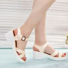 Women Pink Color Platform Plus Size Summer Style Hollow Out Sandal