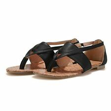 Women New Design Flip Black Pink Color Flat Sandal Size 9 10 11 12