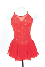 New Jerrys Competition Skating Dress 142 Mirror Red Made on Order