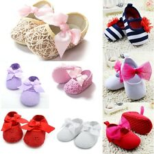 AU Toddler Baby Infant Girls Soft Sole Cotton Shoes Prewalkers Shoes Size 0-18M