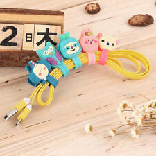 Headphone Earphone Earbud Silicone Cable Cord Wrap Winder Organizer Holder WE