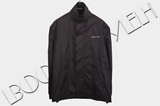 BALENCIAGA 1015$ Authentic New Black Hooded Anorak Logo Print Jacket