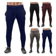 RKB New Mens Pique Tracksuit Bottoms Skinny Jogging Joggers Sweat Pants Trousers
