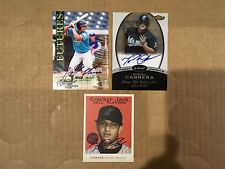 """Miguel Cabrera 2004 Topps """"Cracker Jack Ball Players"""" mini On-Card Auto Card!"""