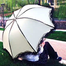 Hot Sale Womens lace Princess Folding Rain umbrella Anti UV Sun Parasol 6Color