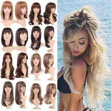 Fashion Full Wig Long Wavy Hair Heat Resistant Synthetic Wigs For Women Ladies *