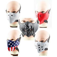 Top Springy Gothic Cosplay Rock Leather Steam Punk Mask Motorcycle Punk PU Mask
