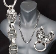 """LION KING HEAVY LINKS 925 STERLING SILVER MENS NECKLACE CHAIN 20 22 24 26 28"""""""