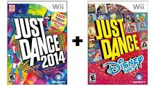 NINTENDO Wii JUST DANCE 2014 & JUST DANCE DISNEY PARTY - *BRAND NEW SEALED*