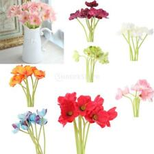 8Pcs Simulation Poppy Artificial Flower Branches Photography Props Decor