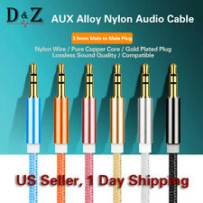 NEW 3.5MM AUX AUXILIARY CORD MALE TO MALE STEREO AUDIO CABLE FOR MP3 CAR IPOD PC