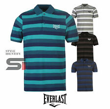 New Mens Everlast Everyday Casual Striped Polo Shirt Cotton Top Size S-XXXXL