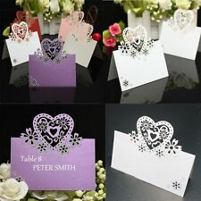 Cut Party Wedding Decoration Guest Table Love Heart Name Number Place Cards