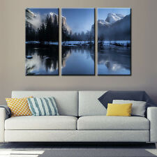 Snow Mountain Lake Landscape Canvas Printing Painting Poster Wall Art Home Decor
