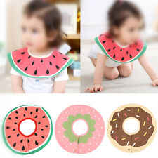 Baby Toddler Kids Waterproof Feeding Art Apron Bib Saliva Towel Cloth Fruit SG