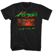 80's OPEN UP AND SAY AHH Poison Glam Hair Metal Rock Band Licensed T-Shirt 2