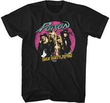 80's TALK DIRTY TO ME Poison Glam Hair Metal Rock Band Licensed TOUR T-Shirt 3