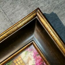 "5.375"" WIDE Brown Gold Ornate Oil Painting Wood Picture Frame 83A"