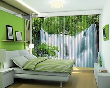 3D Waterfall 94 Blockout Photo Curtain Printing Curtains Drapes Fabric Window US