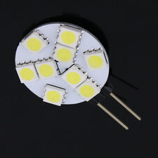 10 x DC12V 1.8W G4 5050 SMD 9LED Marine Cabinet Camper Car Light Bulb Lamp