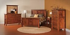 Luxury Amish Artesa Mission Arts & Crafts Bedroom Set Solid Wood Full Queen King