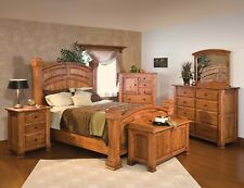 Luxury Amish Mission Bedroom Set Solid Rustic Cherry Wood Queen King
