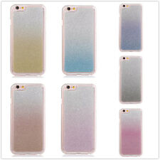 For Samsung Phones Bling Glitter Gradient Crystal Clear Soft TPU Back Case Cover