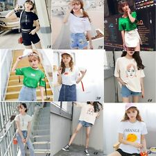 Womens New Style Fashion Cotton Summer T-shirt Tops Blouses Women's Ladies Girls