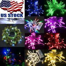 3.2ft/1M 10 LED Copper Wire String Party Fairy Garden Decoration Xmas Tree Light
