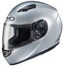 HJC Adult CS-R3 Solid CR Silver Full Face Motorcycle Helmet DOT