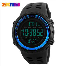 Sports Watches Men's Digital LED Date Day Waterproof Alarm Backlight Wrist Watch