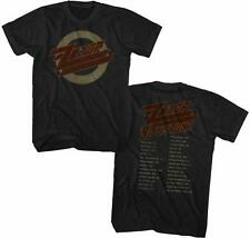1990 US TOUR ZZ Top Classic Rock Band Licensed Concert Tour Adult BLACK T-Shirt