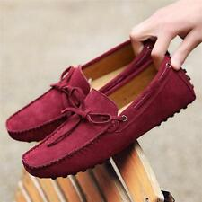 Mens loafer Casual Slip On faux Suede Driving Shoes flat moccasin gommino