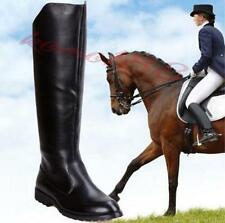 Mens Riding Boots Military army Knight Knee High Equestrian Boots zip up Chic