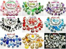 Fashion Mixed Beautiful European Style Charms Beads Fit European Bracelet