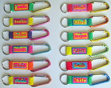 PERSONALISED NAMED KEYRING (GIRLS) A - L BIRTHDAY GIFT /  PRESENT