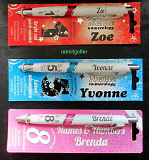 PERSONALIZED GIRLS NAMED PENS EXCELLENT GIFT SCHOOL OFFICE WORKPLACE (M to Z)