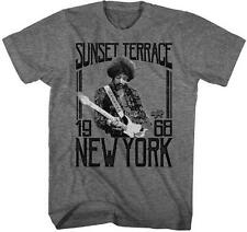 SUNSET NEW YORK Jimi Hendrix Psychedelic Rock Electric Guitarist ADULT T-Shirt