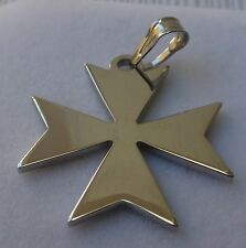 DISCOUNTED! 925 Sterling Silver Order Of St.John Maltese Cross Solid Pendant