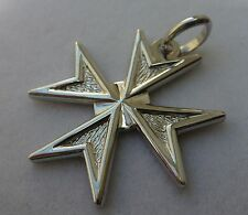 Sterling Silver Maltese Cross Solid Pendant Unique & New style! Large Size