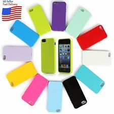 Silicone Rubber Gel TPU Jelly Lustrous Case Cover Skin For Apple iPhone 5 5s