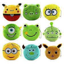 Cartoon Plush Children Coin Purse Mini Portable Women Zipper Wallet Pouch Bag