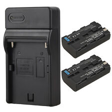 2x Rechargeable Camera Li-ion Battery for Sony NP-F550 NP-F570 With USB Charger