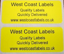 Printed Personalised Yellow Address Labels - 50mm x 20mm