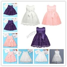 Infant Toddler Baby Flower Girl Floral Dress Kid Party Bridesmaid Formal Dresses