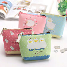 Beautiful Women PU Coin Purse Portable Mini Wallet Purse Zip Coin Money Bag