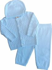 NEW super cute cable knit baby boys 3pc set by Zip ZAp , Spanish/Romany/Trad.