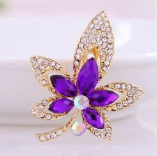 Free Gift with Purple Spray Sparkling Stones  Brooch -  other brooches available