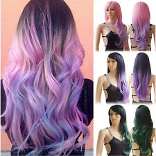 Fashion Women Full Wig Short Straight Long Wave Hair Cosplay Synthetic Hairpiece