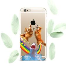 Cute Funny Corgi Cat Shark Silicone Soft Rubber Case Cover Back For Apple iPhone